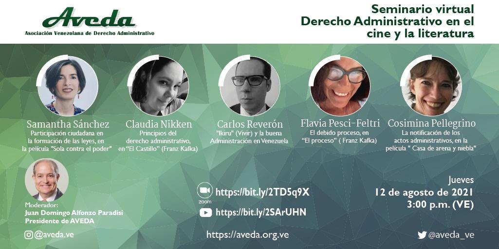 """Reseña del seminario virtual """"Derecho Administrativo en el cine y la literatura"""""""