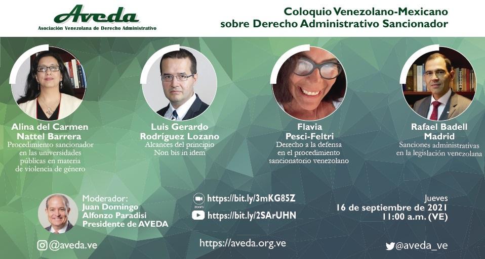 """Reseña del """"Coloquio venezolano-mexicano sobre Derecho Administrativo Sancionador"""""""